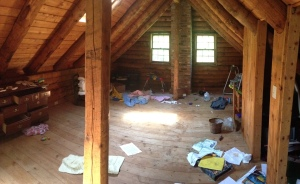Large upstairs bedroom, to be converted to master bedroom and little boy's bedroom.