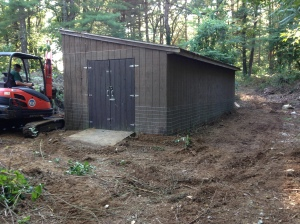 Predator proofed goat barn!