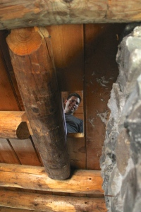 Fixing some bowing in the upstairs floor around the chimney due to settling.