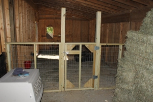 Barn ready for its new residents.