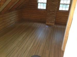 Master bedroom floors done.