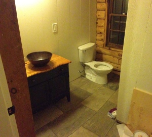 First floor bathroom coming together.